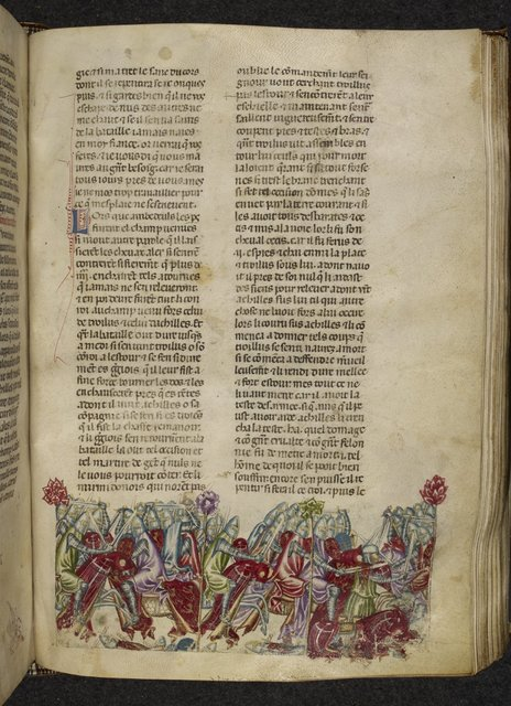Death of Troilus from BL Royal 20 D I, f. 144