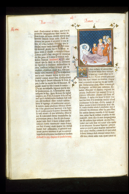 Deathbed of Duke Richard of Normandy from BL Royal 16 G VI, f. 259v
