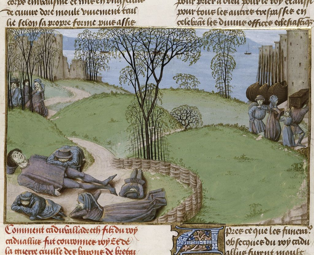 Deaths from famine from BL Royal 15 E IV, f. 187