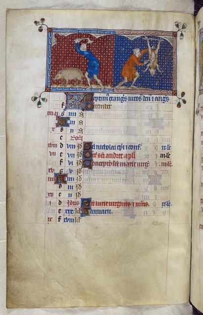 December from BL Royal 2 B VII, f. 82v