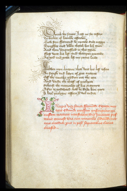 Decorated Initial from BL Harley 2278, f. 69v