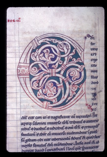 Decorated initial from BL Harley 2799, f. 99v