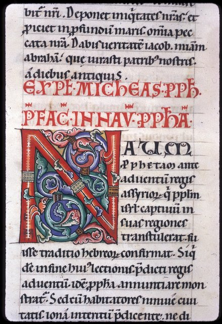 Decorated initial from BL Harley 2803, f. 276