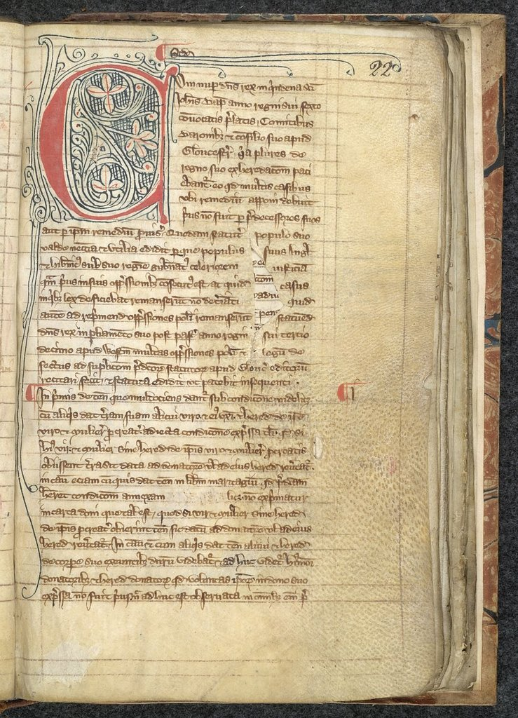 Decorated initial from BL Lansdowne 472, f. 22