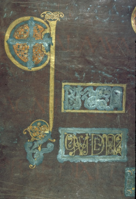 Decorated initial from BL Royal 1 E VI, f. 43