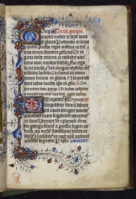 Decorated initial from BL Royal 2 A XVIII, f. 6