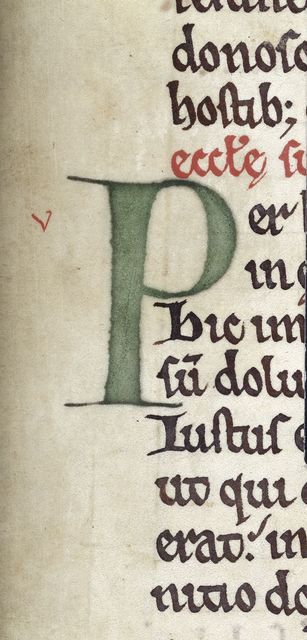 Decorated initial from BL Royal 6 E II, f. 171