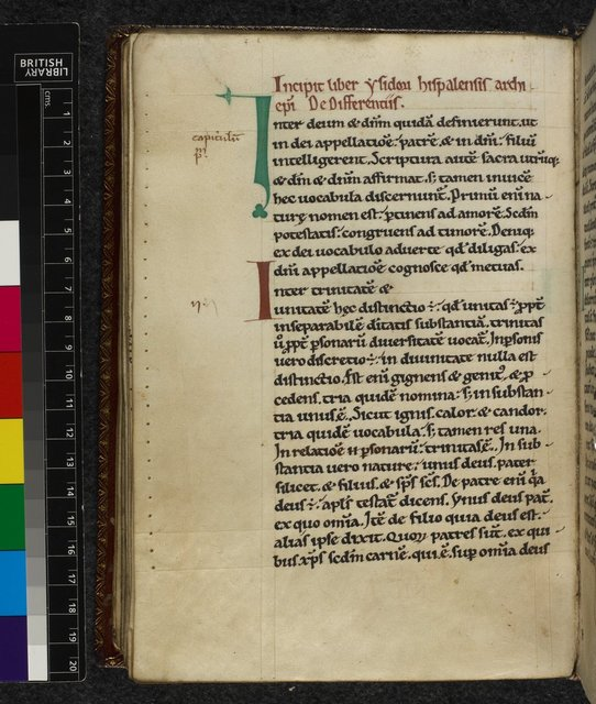 Decorated initials from BL Harley 3015, f. 65v
