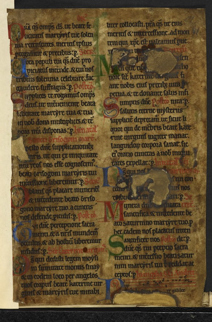 Decorated initials from BL Harley 5958, f. 81
