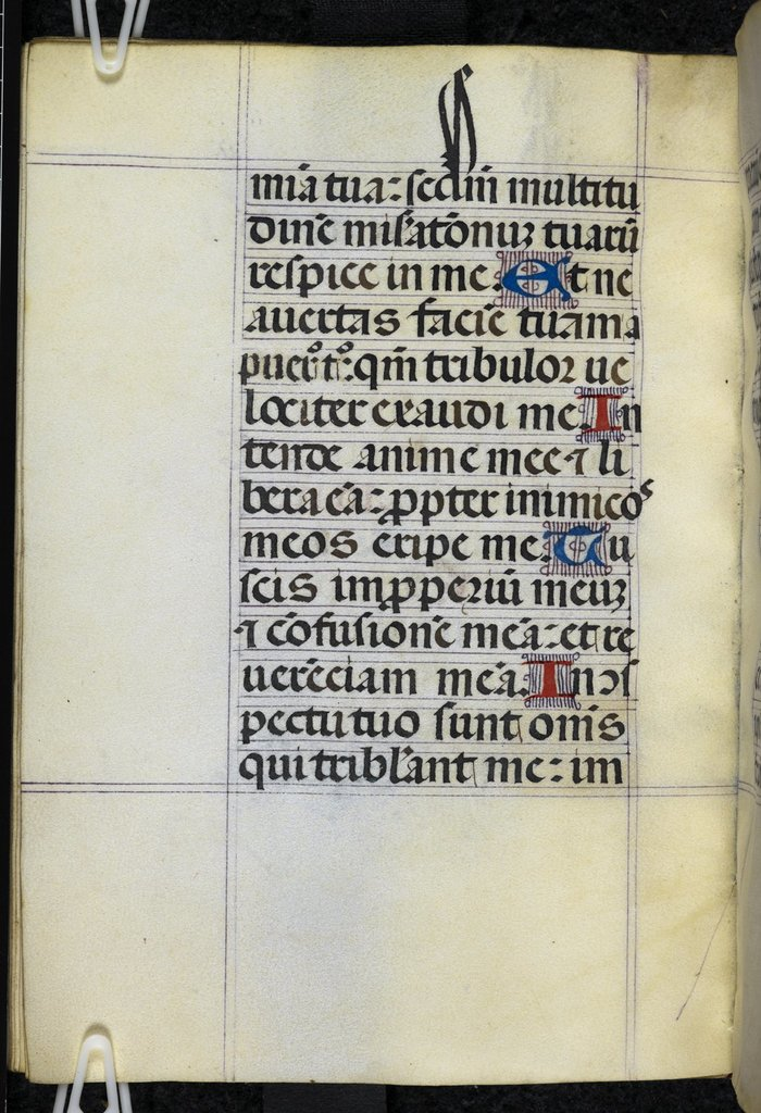 Decorated initials from BL Royal 2 A VII, f. 23v