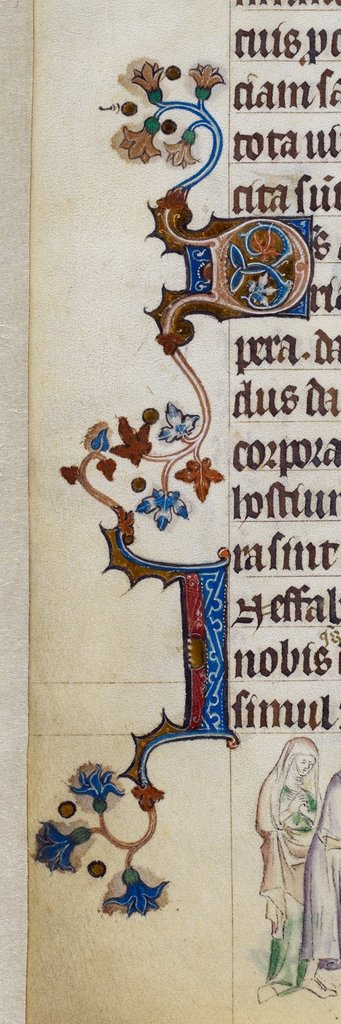 Decorated initials from BL Royal 2 B VII, f. 313v