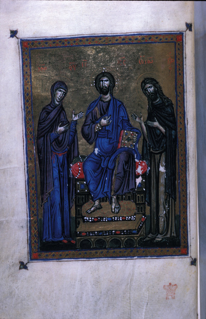 Deesis from BL Eg 1139, f. 12v