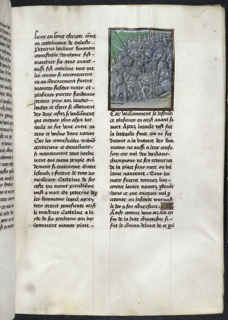 Defeat of Catiline from BL Royal 16 G VIII, f. 67