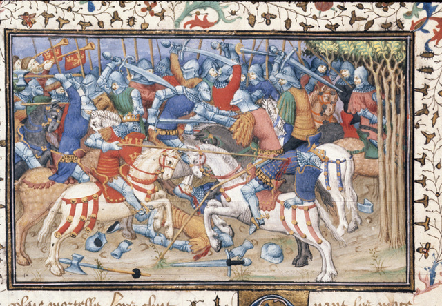 Defeat of Philip from BL Royal 20 B XX, f. 16v