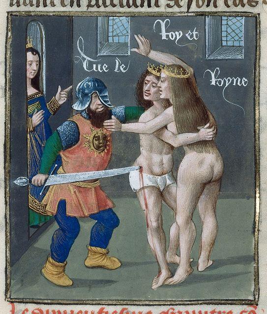 Demetrius and Arsinoe from BL Royal 14 E V, f. 227