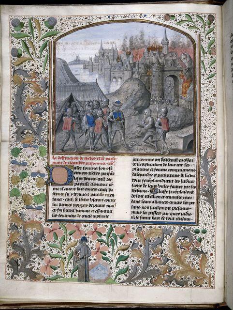 Destruction of Thebes from BL Royal 15 D IV, f. 24v