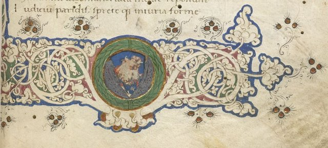 Detail of border from BL Lansdowne 835, f. 1