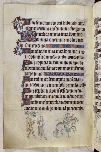 Devil and Knight from BL Royal 2 B VII, f. 216v