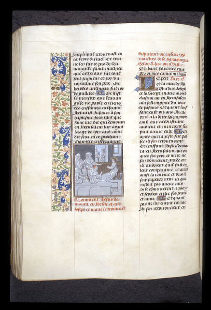 Disputation in the Temple from BL Royal 15 D I, f. 246v