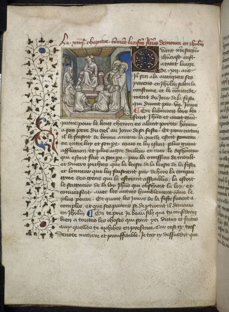 Disputation in the Temple from BL Royal 20 B IV, f. 37v