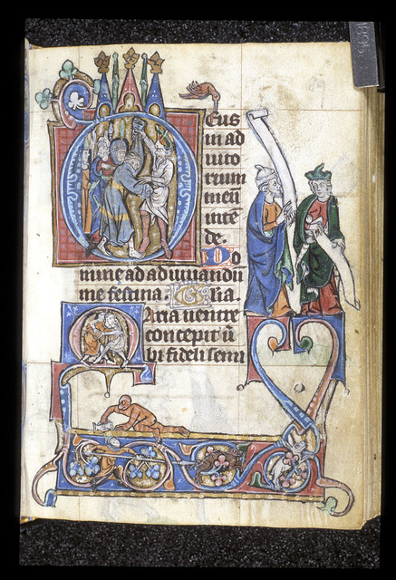 Disrobing of Christ from BL Stowe 17, f. 89