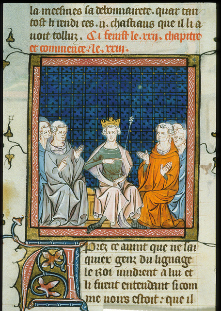 Divorce of Louis VII from BL Royal 16 G VI, f. 325v