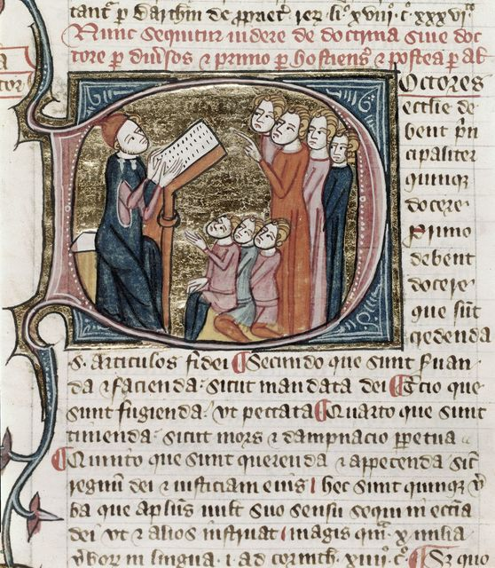 Doctrina sive Doctor (Doctrine, or Doctor) from BL Royal 6 E VI, f. 541
