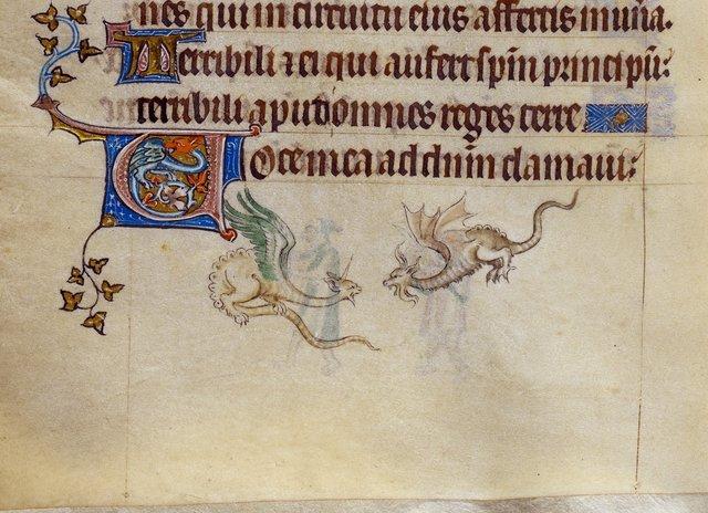 Dragons from BL Royal 2 B VII, f. 180v