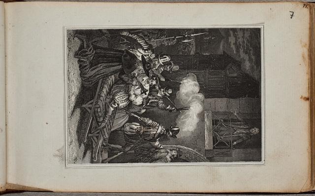 Drie gravures / door N.N. in het album amicorum van Wilhelm Eschenbach (1764-1797), wiskundige en astronoom
