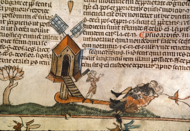Drunk hermit from BL Royal 10 E IV, f. 115