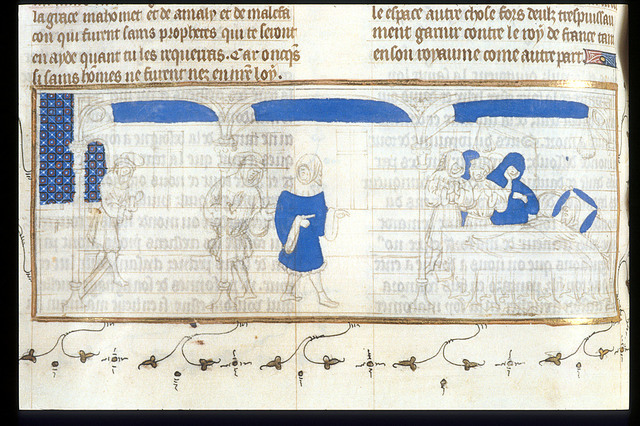 Duke of Brittany's deathbed from BL Royal 20 C VII, f. 89v