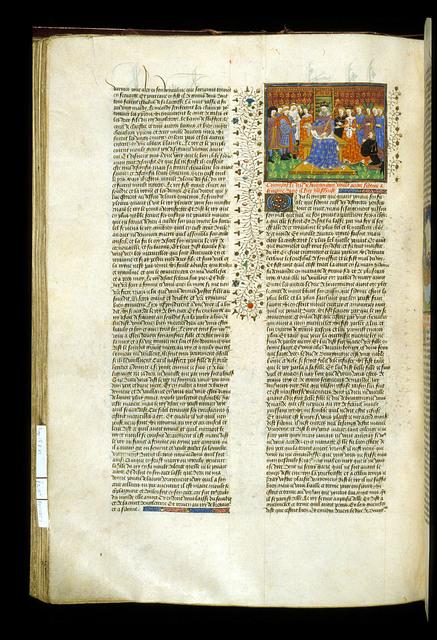 Duke of Burgundy asking for Sidoine in marriage from BL Royal 15 E VI, f. 218v