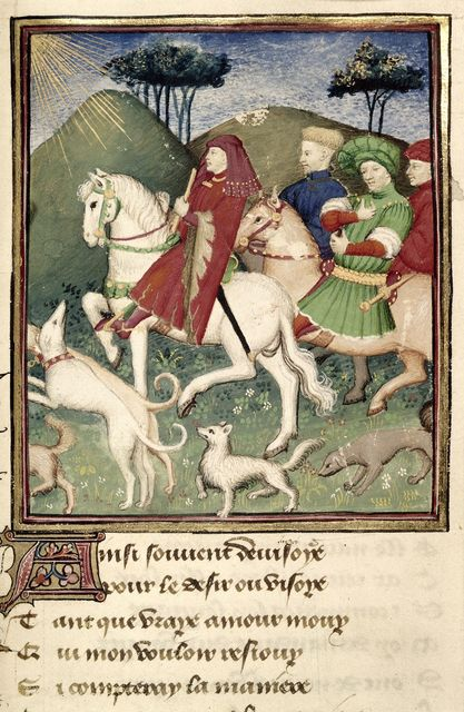 Duke of True Love hunting from BL Harley 4431, f. 144