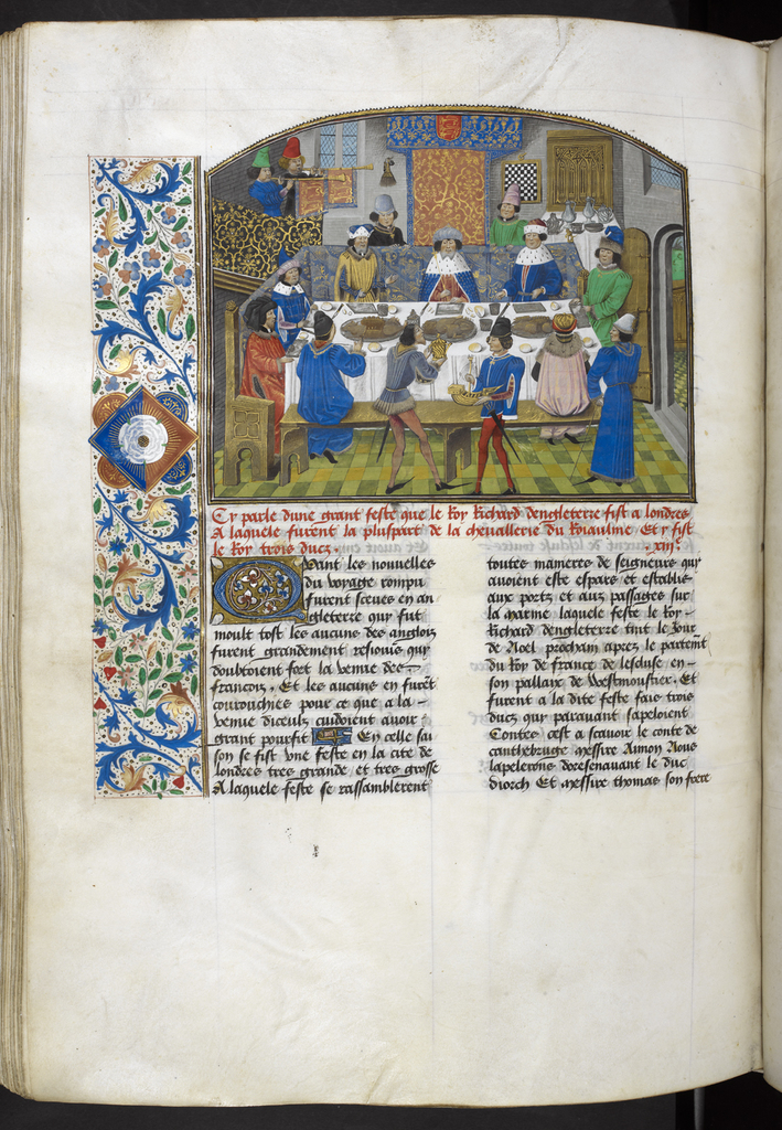 Dukes of York, Gloucester and Ireland from BL Royal 14 E IV, f. 265v