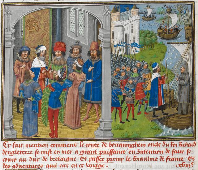 Earl of Buckingham from BL Royal 14 E IV, f. 49v