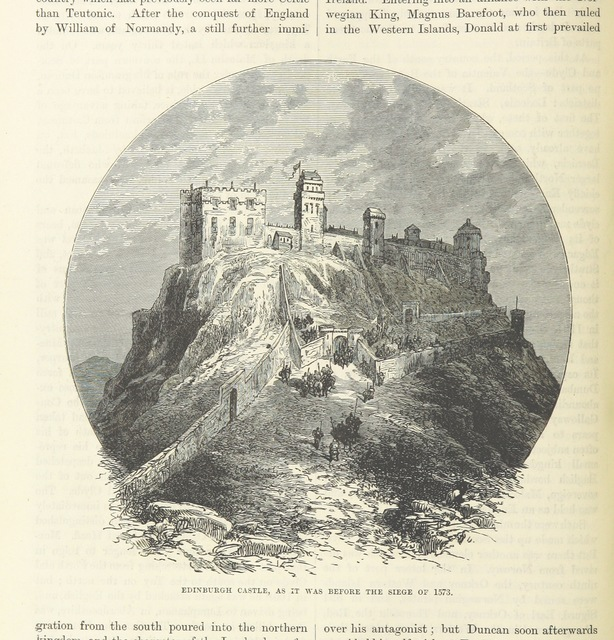"""Edinburgh Castle from """"[Cassell's Illustrated Universal History.]"""""""