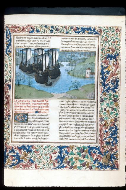 Edward I returning from Gascony from BL Royal 15 E IV, f. 287