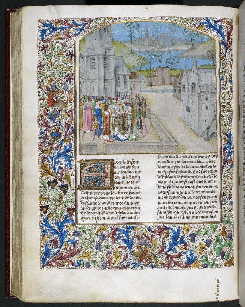 Edward II from BL Royal 15 E IV, f. 295v