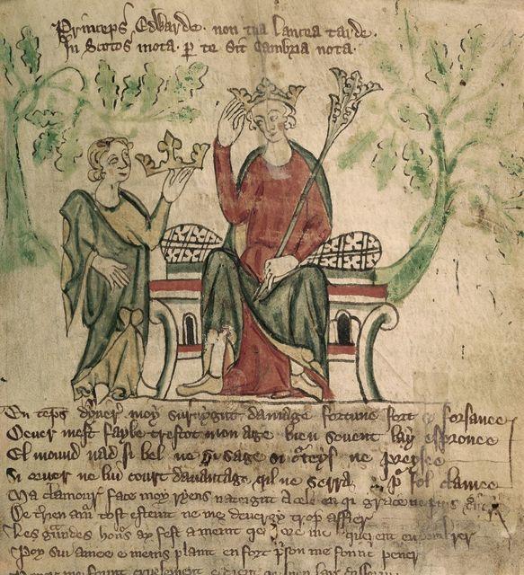 Edward II from BL Royal 20 A II, f. 10