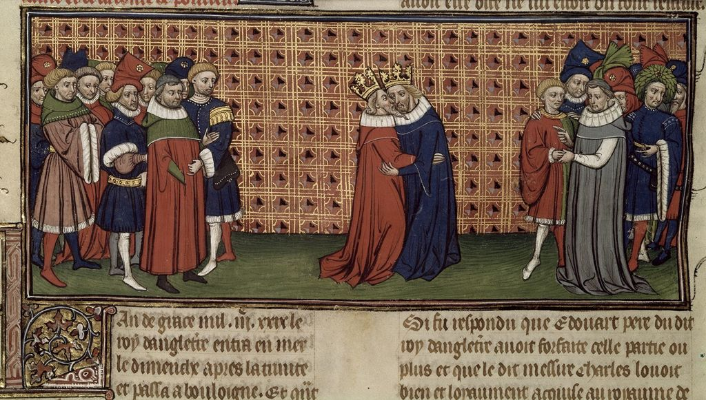 Edward III from BL Royal 20 C VII, f. 72v