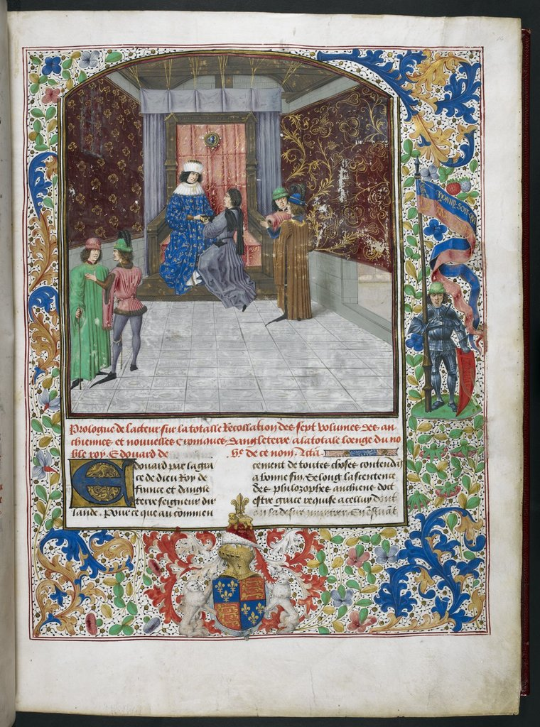 Edward IV from BL Royal 15 E IV, f. 14