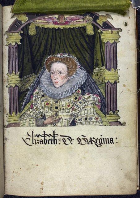 Elizabeth I from BL Eg 2572, f. 11