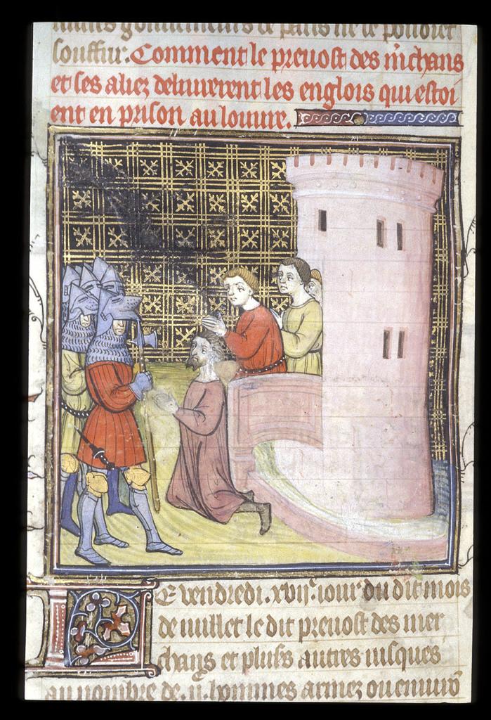 English prisoners from BL Royal 20 C VII, f. 138v