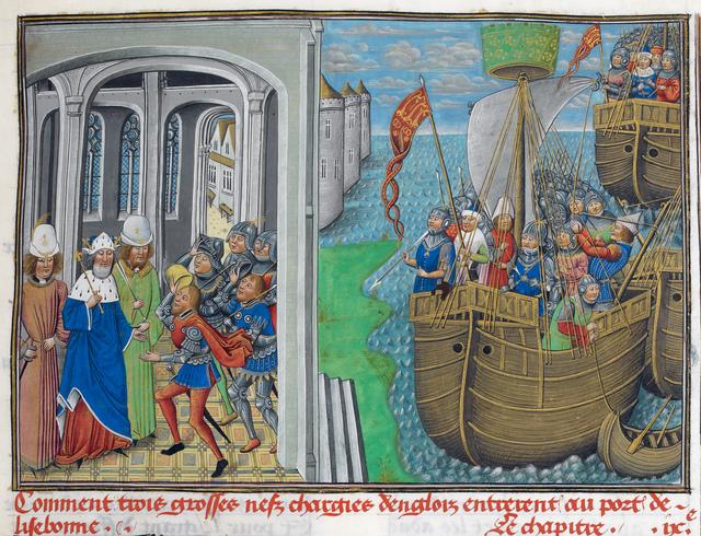 English ships at Lisbon from BL Royal 14 E IV, f. 195
