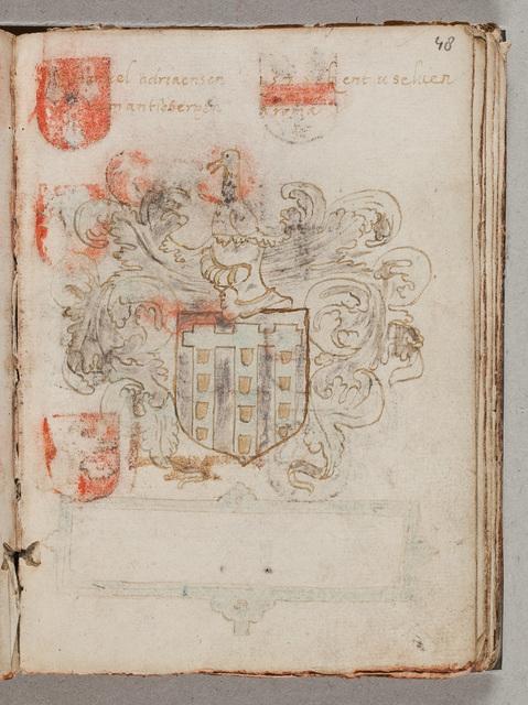 Enige wapens / van N.N. in het album amicorum van Gerard van Hacfort