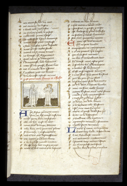 Envie and Tristesse from BL Eg 1069, f. 3