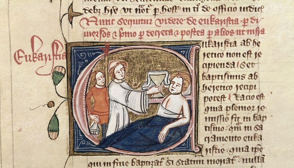 Eucharistia (Eucharist) from BL Royal 6 E VII, f. 70