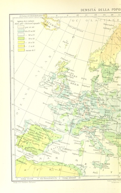 "Europe from ""La Terra, trattato popolare di geografia universale per G. Marinelli ed altri scienziati italiani, etc. [With illustrations and maps.]"""