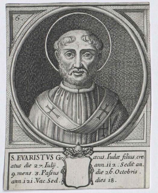 Evaristus, Heiliger papa