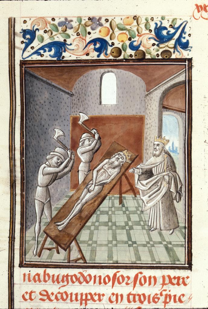 Evilmerodach and Nebuchadnezzar from BL Royal 15 D I, f. 43